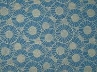 JU1945-46 Jugendststilstoff Koloman Moser Orakelblume blau