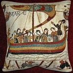 K3978 Teppich von Bayeux Schiff als Kissen