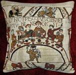 K3988 Teppich von Bayeux Tafel Bischof Odo als Kissen