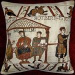 K3998 Teppich von Bayeux Musikanten als Kissen