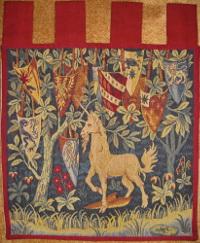 W2958 Einhorn mit Wappen