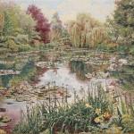 Monets Garten in Giverny als Wandteppich W5090