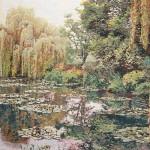 Monets Garten in Giverny als Wandteppich W5110
