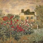"""W5160 Claude Monet """"Le Jardin de Monet à Argenteuil (les Dahlias)"""""""