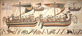 W8050 Teppich von Bayeux - Schiffe nach England, die Überfahrt