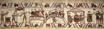 W8070 Teppich von Bayeux das Bankett mit Bischof Odo