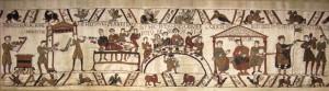 W8070 Wandteppich Teppich von Bayeux - Bankett und Spielleute