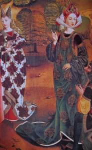 Augustus und die tiburtinische Sybille Ausschnitt um 1500 Bamberg