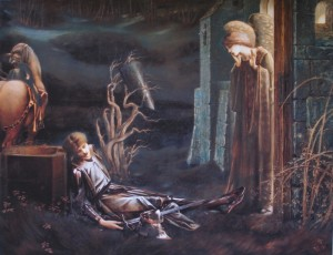 Burne Jones Holy Grail_Sir_Lancelots_dream