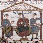 Teppich von Bayeux -  Wilhelm  mit  Odo und Robert