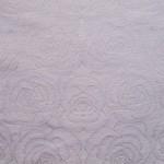 TW500 echter Rosen Damast Baumwolle  Tischwäsche weiss