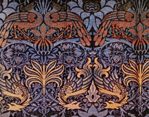 William Morris - Peacock and Dragon Originalstoff 1878