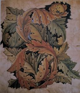 William Morris Entwurf Akanthus 1874 heute im Victoria & Albert Museum