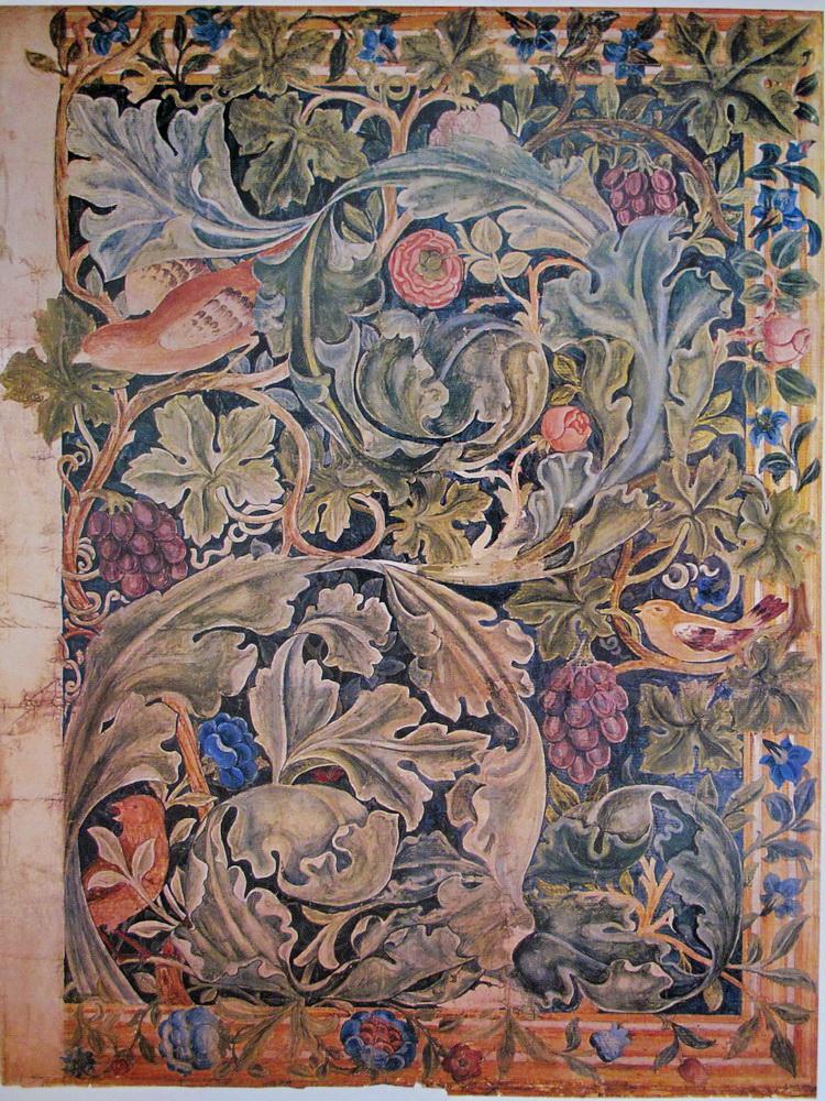 Jugendstil Malerei william morris kunst und handwerk des mittelalters im jugendstil