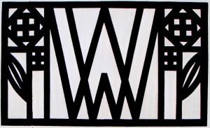 Monogramm und Warenzeichen (Rose) der Wiener Werkstätte
