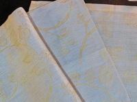 TWPS42L Platzset Reinleinen naturfarben-gelb