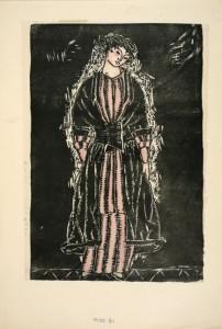 Zeichnung aus dem Modebuch der WW 1914
