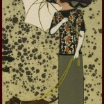"""Postkarte der WW mit dem Stoff """"Apollo"""" von Josef Hoffmann 1912"""