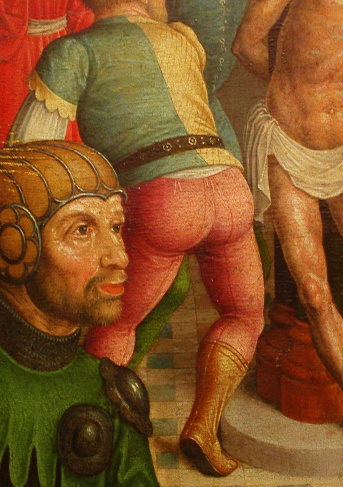Mittelalter-Mann: Beinlinge, Hosen, Hosenlatz