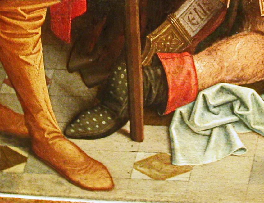 spätes Mittelalter: interessante Details auf Bild-Originalen